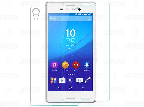 محافظ صفحه نمایش شیشه ای پشت و رو Sony Xperia M4 Aqua