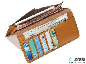 کیف چرمی پول و گوشی Wallet Janyee Genuine Leather iphone 6/6s/6 plus/6s plus مارک Remax