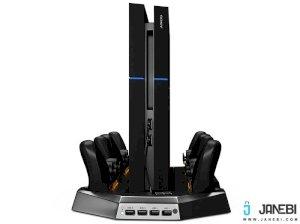 استند فن دار و شارژر دسته بازی PS4 Cooling Stand with 4 Charging Docks