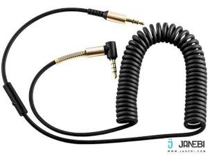 کابل دو متری میکروفون دار Hoco UPA02 Spring 3.5 mm Stereo With Controls Aux