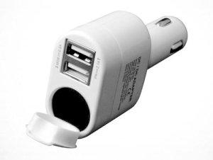 شارژر فندکی Inno AX با 2 پورت USB و سوکت فندک ماشین