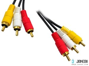 کابل صدا و تصویر بافو BAFO Composite Audio and Video Cable RCA Malex3 / RCA Malex3