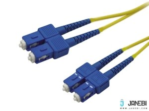 کابل فیبر نوری بافو BAFO Fiber Optic Cable Duplex Single-Mode (50/125um ) SC to SC 3.0mm