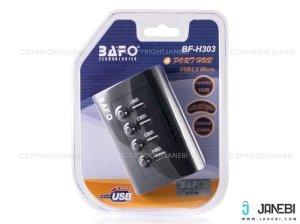 هاب یو اس بی 4 پورت بافو BAFO USB 2.0 HUB W/Power Adapter BF-H303