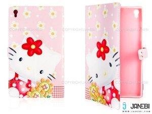 کیف تبلت لنوو طرح کیتی گلدار Colourful Case Lenovo Tab S8 Kitty