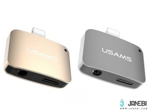مبدل صدا لایتنینگ یوسامز Usams 2 In 1 Lightning adapter