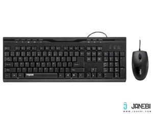 موس و کیبورد با سیم رپو Rapoo NX1710 Wired Keyboard and Mouse