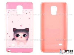 محافظ ژله ای سامسونگ طرح گربه Mobile Case Samsung Galaxy Note 4