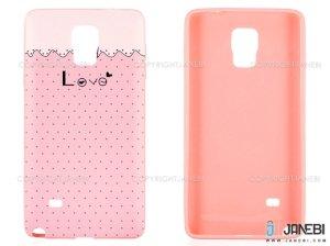 محافظ ژله ای سامسونگ طرح عشق Mobile Case Samsung Galaxy Note 4