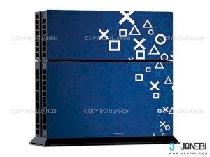 کاور اسکین کنسول بازی پلی استیشن 4 PS4 Skin Blue Signs