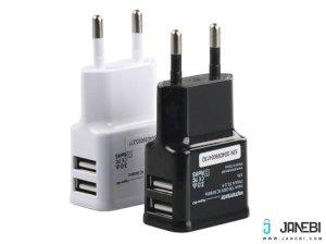 شارژر دیواری پرومیت Promate Hype-EU Dual USB Home Charger