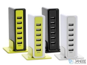 هاب شارژر رومیزی راک Rock 6 USB Ports Rocket Desktop Charger
