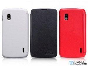 کیف چرمی نیلکین ال جی Nillkin Leather Case LG Google Nexus 4