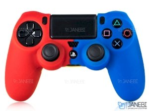 روکش ژله ای دسته بازی طرح قرمز/آبیPS4 Joystick Jelly Cover