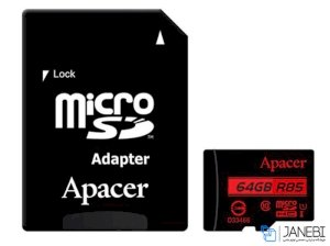 کارت حافظه اپیسر Apacer UHS-I U1 Class 10 85MBps microSDHC With Adapter 64GB
