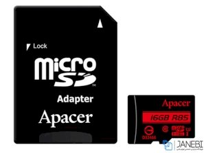 کارت حافظه اپیسر Apacer UHS-I U1 Class 10 85MBps microSDHC With Adapter 16GB