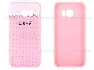 محافظ ژله ای سامسونگ طرح عشق Mobile Case Samsung Galaxy S7 Edge