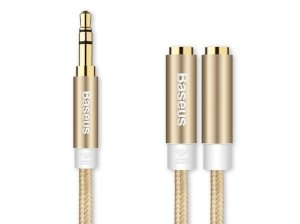 کابل صدا دو سر بیسوس Baseus Fulency 2 in 1 Audio Cable