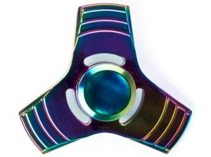 اسپینر فلزی سه پره ای رنگین کمانی Fidget Spinner Rainbow