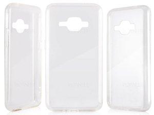 محافظ شیشه ای - ژله ای سامسونگ Samsung Galaxy J1 2016 Transparent Cover