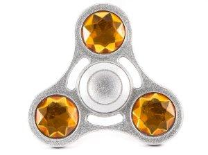 اسپینر فلزی سه پره ای نگین دار Fidget Spinner Cameo