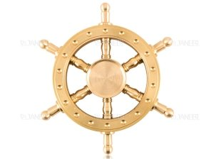 اسپینر فلزی سکان کشتی 2 Fidget Spinner Metal Steering The Ship