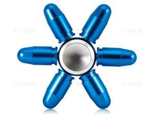 اسپینر فلزی شش پره ای طرح فشنگ Fidget Spinner Metal Bullet