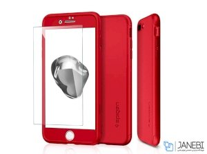 قاب محافظ و محافظ صفحه شیشه ای اسپیگن آیفون Spigen Thin Fit 360 Case Apple iPhone 7 Plus/8 Plus