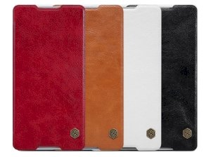 کیف چرمی نیلکین سونی Nillkin Qin Leather Case Sony Xperia C5 Ultra