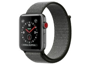 اپل واچ سری 3 مدل Apple Watch 42mm GPS+Cellular Space Gray Aluminum Case Dark Olive Sport Loop