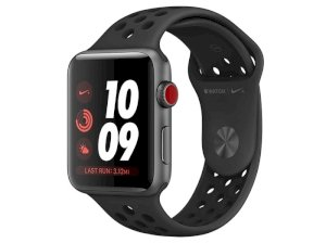 اپل واچ سری 3 مدل Apple Watch 42mm GPS+Cellular Space Gray Aluminum Case Anthracite/Black Nike Sport Band