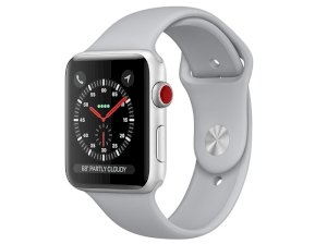 اپل واچ سری 3 مدل Apple Watch 38mm GPS+Cellular Silver Aluminum Case Fog Sport Band