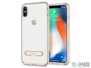 قاب محافظ اسپیگن آیفون Spigen Crystal Hybrid Glitter Case Apple iPhone X