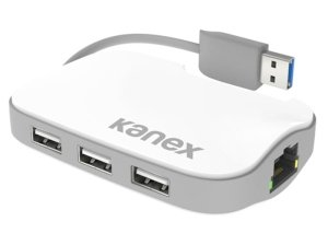 هاب 3 پورت و اترنت کنکس Kanex USB 3.0 3-Port Hub + Gigabit Ethernet Adapter