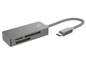 کارتخوان 3 پورت تایپ سی کنکس Kanex USB-C 3 Port Card Reader