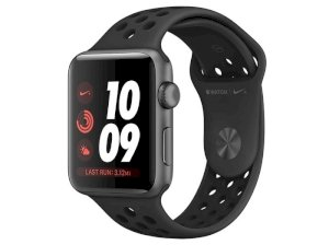 اپل واچ سری 3 مدل Apple Watch 42mm GPS Space Gray Aluminum Case Anthracite/Black Nike Sport Band