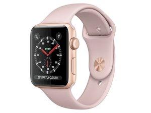 اپل واچ سری 3 مدل Apple Watch 42mm GPS Gold Aluminum Case Pink Sand Sport Band