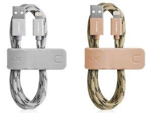 کابل شارژ و انتقال داده لایتنینگ سریع و بند جادویی مومکس Momax Elite Link Lightning Cable 2m