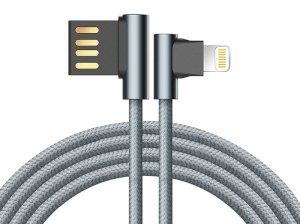 کابل شارژ و انتقال داده راک Rock Dual-end L-shaped Lightning Charge & Sync Cable