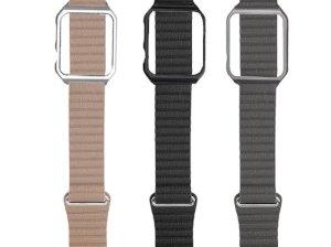 بند طرح چرم و کیس اپل واچ Apple Watch Leather Loop Band With Case 42mm