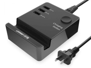 هاب شارژر یو اس بی یوگرین Ugreen 3 Port USB Charging Station With Cradle And Switch