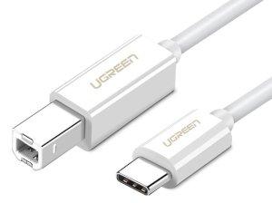 کابل پرینتر تبدیل تایپ سی به یو اس بی بی یوگرین Ugreen US241 USB Type C To USB-B Cable