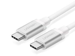 کابل شارژ و انتقال داده تایپ سی به تایپ سی یوگرین Ugreen US161 10682 USB 3.1 Type C Charge & Sync Cable 1.5M