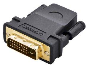 مبدل دی وی آی به اچ دی ام آی یوگرین Ugreen DVI 24+1 Male to HDMI Female Adapter