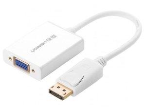 کابل مبدل دیسپلی پورت به وی جی ای یوگرین Ugreen DP106 Display Port Male to VGA Female Converter Cable 15cm