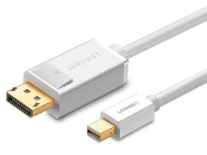 کابل تبدیل مینی دیسپلی پورت به دیسپلی پورت یوگرین Ugreen MD105 Mini Display Port to Display Port Cable 1.5m