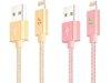 کابل شارژ و انتقال داده لایتنینگ هوکو Hoco UPF03 Metal Knitted Charging Cable 1.2M