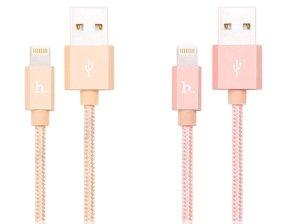 کابل شارژ و انتقال داده لایتنینگ هوکو Hoco UPF01 Metal MFI Lightning Charging Cable 1.2M