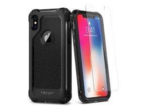 قاب و محافظ صفحه نمایش شیشه ای اسپیگن آیفون Spigen Pro Guard Case Apple iPhone X