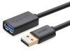 کابل افزایش طول یو اس بی یوگرین Ugreen USB 3.0 A Male to A Female Extension Cable 1.5M